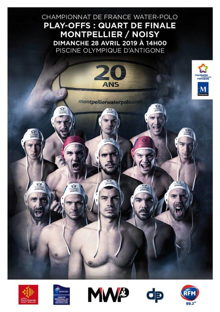 Affiche du quart de final des play-offs du championnat de France de Water-Polo.